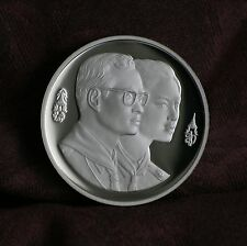 King Bhumibol Adulyadej & Queen 100 Baht 1993 Thailand Proof Coin Boy Scouts