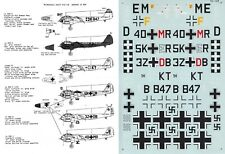 MICROSCALE DECALS 1/72 Junkers Ju 88A KG 3 KG 26 Stab I./KG 77 (Luftwaffe/RHAF)