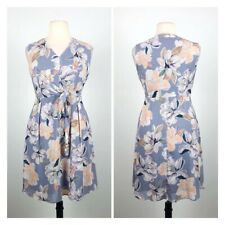 Trent Nathan Chiffon Floral Fit And Flare Dress. Size 14. EUC