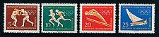 Briefmarken mit Motiven von den Olympischen Spielen als Satz aus der DDR
