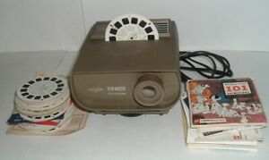 LQQK vintage VIEW MASTER with 80 REELS works fine, cartoon, disney, states, etc.