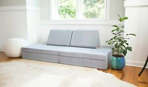 The Nugget Comfort Couch Kids - Koala Gray- IN HAND - READY TO SHIP NOW!