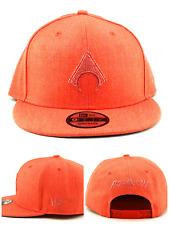 Aquaman New Era 9fifty Shadow DC Comics Tonal Heather Orange Snapback Hat Cap