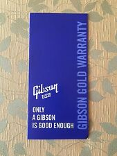 (A1)     GIBSON CASE CANDY ~ BLANK GOLD WARRANTY & REGISTRATION BOOKLET