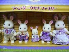 Rare limited Sylvanian Families Calico Critters HOKKAIDO Lavender Rabbit Family
