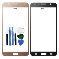 For Samsung Galaxy J7 2015 Front Outer Glass Screen Lens Cover Gold J700F Tools