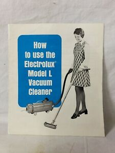 VINTAGE ELECTROLUX MODEL L CANISTER VACUUM CLEANER OWNERS MANUAL 1976 W