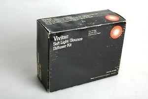 Vivitar Soft Light / Bounce Diffuser Card Holder for 283 Camera Flash In Box