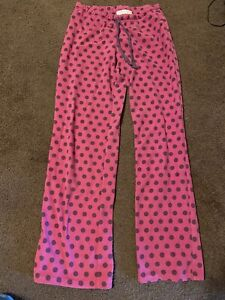 juniors Dark Pink pajamas lounge pants size medium Polka Dots Xhilaration GUC