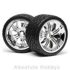 HPI Racing Mounted Phaltline Tire 140X70mm On Tremor Wheel Chrome (1pr) HPI4731