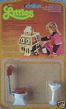 Vintage The Littles Dolls House Toilet & Washbasin