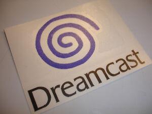 Dreamcast logo contour cut vinyl sticker - Blue & Black - 100mm x 80mm