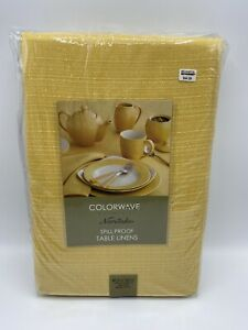 NORITAKE Colorwave Collection Yellow Spill Proof Table Linen 60 in x 120 in
