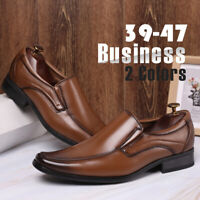 Men's Business Leather Dress Shoes Pointed Toe Oxfords Formal Office Work Shoes