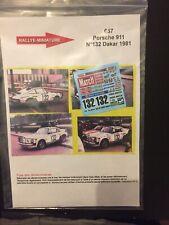 DECALS 1/43 PORSCHE 911 NAEF RALLYE PARIS DAKAR 1981