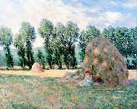 Haystacks by Claude Monet Giclee Museum Size Repro on Canvas
