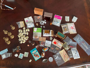 1:12 dollhouse miniatures mixed lots, Furniture, Accessories, Vintage, New