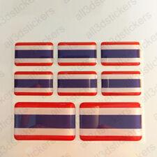 Pegatinas Tailandia Pegatina Bandera Tailandia Vinilo Adhesivo 3D Relieve Resina