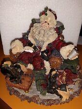 Boyd's Bears Retired Exhausted Santa December 25 Christmas Figurine Series # 4