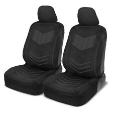 Car Seat Covers Motor Trend Charcoal/Black PU Leather Sideless Front Set Auto