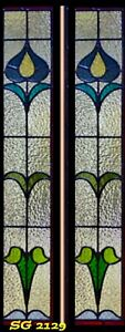 """Art Nouveau Stained glass 10"""" x 44"""" Stunning Design SG2129"""