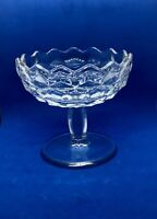 """Vtg 9"""" FOSTORIA American Glass Clear Pedestal Compote Candy Dish 4 1/2"""""""