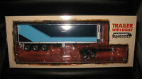 1:64 HIGHWAY REPLICAS EXTRA ROAD TRAIN FREIGHT TRAILER WITH DOLLY BLUE / CYAN