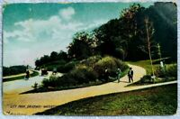 RARE VTG Watertown NY 1903 RPPC Postcard City Park Driveway Real Photo Old Cars