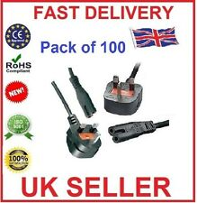 3M Metre Figure of 8 Mains Cable / Power UK Lead Plug Cord IEC C7 (PACK OF 100)