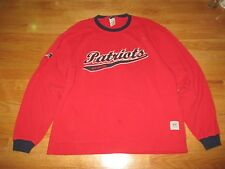 Reebok Gridiron Classics NEW ENGLAND PATRIOTS Embroidered (LG) Sweatshirt RED