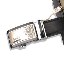 Septwolves men real Genuine cow leather belt Auto lock Buckle black 1105500-1