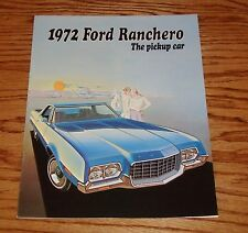 Original 1972 Ford Ranchero The Pickup Car Sales Brochure 72
