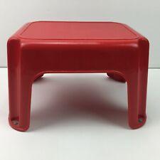 Rubbermaid Red Plastic Step Stool Home Use Bathroom Kids