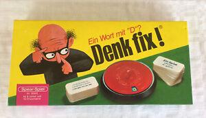 Denk Fix - Wenig benutzt - Spear Spiele Familien Spiel Frage Antwort Vintage