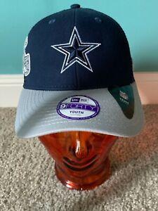 "Dallas Cowboys Youth New Era 9Forty ""Mascot Mixer""Adjustable Hat/Blue/Gray,New"