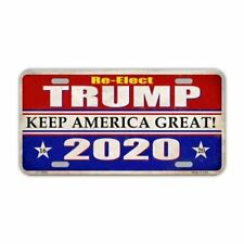 License Plate, Metal Tag Cover, Re-Elect Donald Trump 2020, Keep America Great!