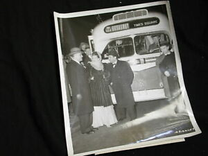 New York City historical photo First Broadway Bus instead of trolley Janis Pa...
