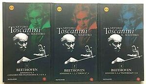Arturo Toscanini Il maestro Beethoven 6 CD da collezione Mondadori Nove Sinfonie