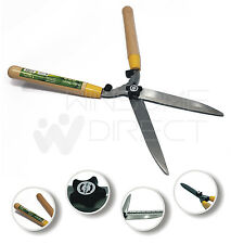 Shears Garden Grass Lawn Shrubs Hedge Cutter Trimmer Wooden Handle