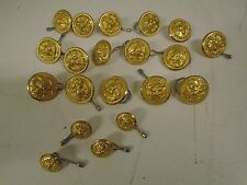 Lot of Navy Brass Buttons Waterbury Naval Antique Eagle on Anchor 20 Twenty