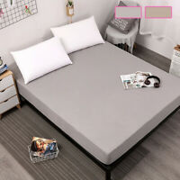 Extra Deep 30CM Waterproof Terry Towel Mattress fitted sheet Bed Protector Cover