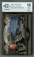 1996 upper deck virtual velocity #vv2 RUSTY WALLACE BGS BCCG 10