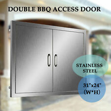 """31""""x24"""" Bbq Island Stainless Access Double Walled Door Outdoor Mount Kitchen"""