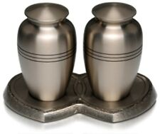 Companion Pewter Urn - Double Urn on Heart Base