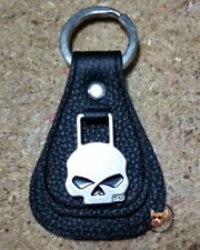 Harley Davidson® Willie G Skull Medallion Teardrop Key Fob Key Chain Leather