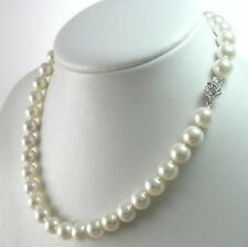 AAAA 8mm White South Sea Shell Pearl Necklace 18""