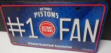 Detroit Pistons #1 Fan Metal License Plate.    #K10-1