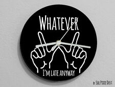 Whatever  I'm Late Anyway Hand Symbol - Wall Clock