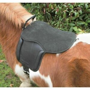 SALE Shires Aviemore Childs First Starter Pony Pad Saddle With Hand Grip Black