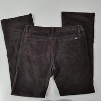 VINEYARD VINES Women's Dark Brown Stretch Corduroy Bootcut Pants Size 8